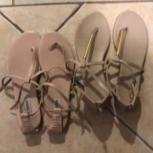 Two pairs of women's sandals